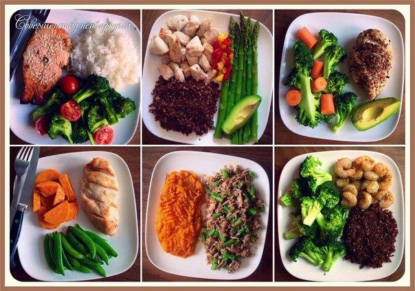 правильное питание завтрак обед ужин меню